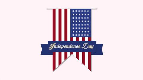 US Independence Day: mini intro animation 2, Stock Animation
