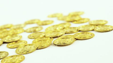Leprechauns gold on white background for st patricks Live Action