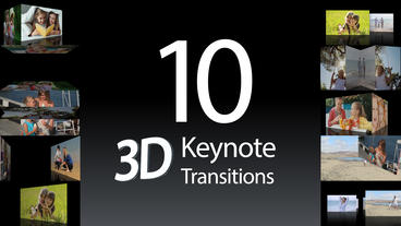 10 Keynote 3D Transitions - After Effects Templates After Effects Template