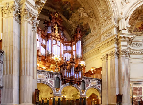 Pipe Organ and Interior at Berlin Cathedral Photo