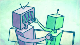 Robots on date, short cartoon animation Animación