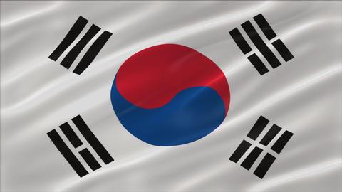 Flag of South Korea 4K Animation