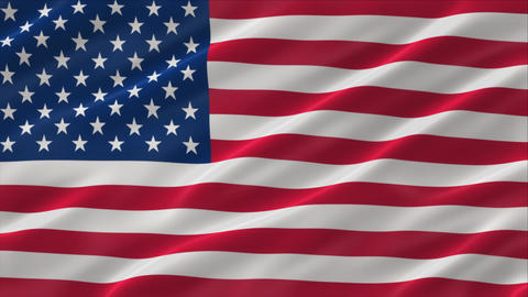 Flag of United States of America 4K Animation