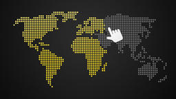 switching on world map day and night Animation
