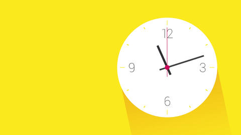 white clock on yellow wall Footage