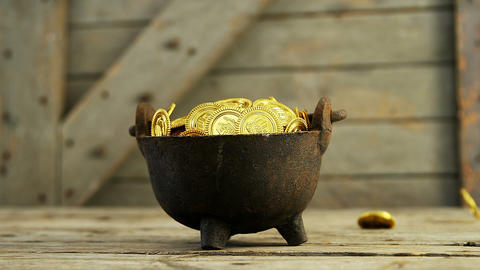 Leprechauns pot of gold for st patricks Live Action