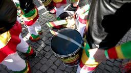 samba brazilian carnaval bateria Brazil parade drummers playing percussion Footage