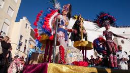 samba dancers carnaval Brazilian parade float car dancing dance carnival Brazil Footage