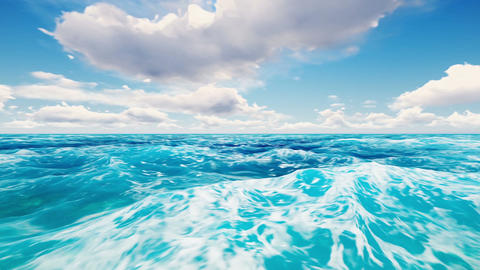 Painting Ocean CG動画素材