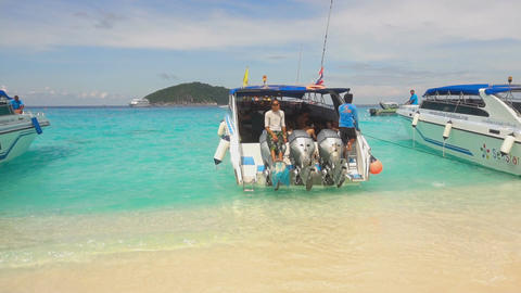 Tourists at Similans Footage