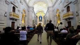 Sao Bento da Porta Aberta Bentinho sanctuary basilica pilgrims pray praying Footage