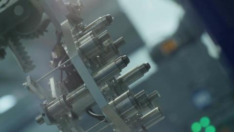 Modern Machine Tool Works in Brightly Lit Plant Workshop Footage