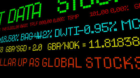 Dollar up as global stocks tank Footage