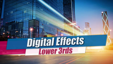Digital Lower Thirds - After Effects Template After Effects Template