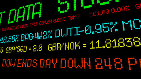 Dow ends day down 248 points Footage