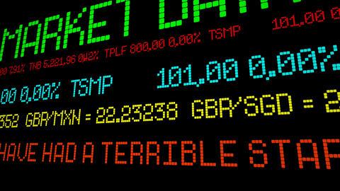 Financial markets have had a terrible start to the year Acción en vivo