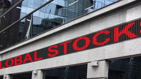 Global stocks under pressure Footage