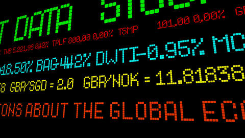 Gloomy predictions about the global economy Footage