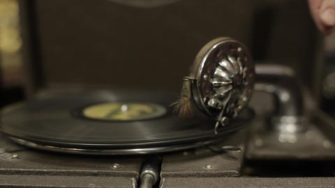 Gramophone in an antique shop Filmmaterial