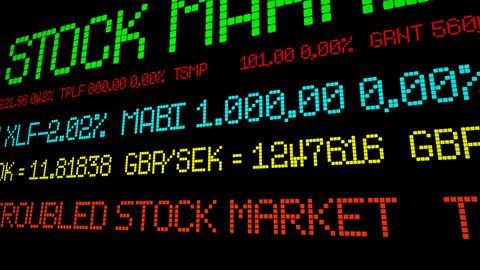 Troubled stock market Acción en vivo