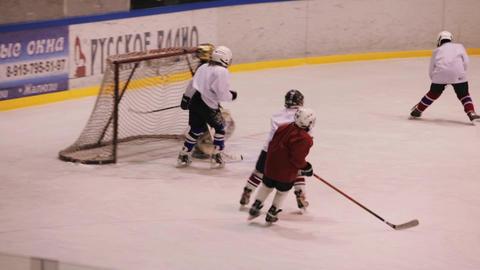 Coaching children's hockey team