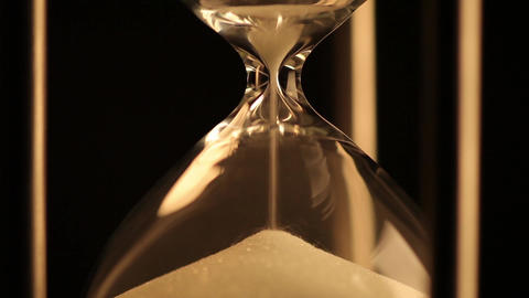 Hourglass. Last grains of sand Footage