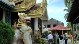 Malaysia Penang island 002 burmese buddhist temple fantasy figure Footage