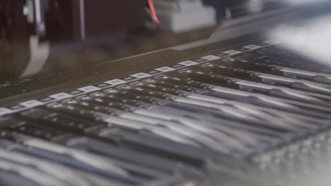 Robot High-tech Machine Tool Prints and Checks Chips Footage