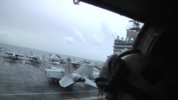 Enterprise Aircraft Carrier Strike Group Formation stock footage