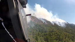 The California National Guard, Fights the Rim Fire Over Yosemite National Park Footage