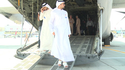 2013 Dubai Air Show visitors on Hercules Ramp Footage