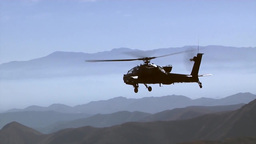 Air to Air Views of AH-64 Apache Helicopters Footage