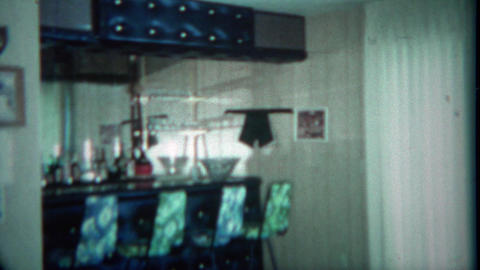 1963: Vintage home wet bar basement setup custom built by the owners. BUFFALO, N Footage