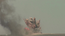Explosion on range during Exercise Eager Lion Falcon Air Meet 2013 Footage