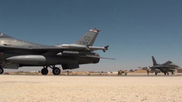 F-16 Falcons during Exercise Eager Lion Falcon Air Meet 2013 Footage