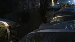 Loading a C-130H Hercules ready for Airdrop Over Afghanistan at Night Footage