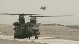 Boeing CH-47 Chinook helicopter Footage