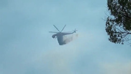 Sikorsky S-64 Skycrane fire fighting High Park Forest Fire Footage