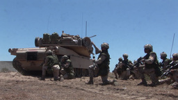 U.S. Marines and Royal Canadian Infantry Regiment conduct a mechanized assault Footage