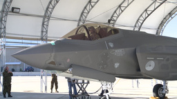 Dutch F-35 Lightning II is flown by a Royal Netherlands Air Force Pilot Footage
