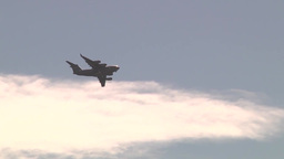 C-17 Globemaster Lands at Wheeler Army Airfield Footage