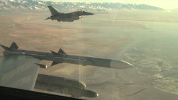 F-16 Fighting Falcon jet aircraft aerial footage Footage