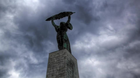 Monument to the 70Th Anniversary of the Liberation of Budapest. Monument to the  Live Action