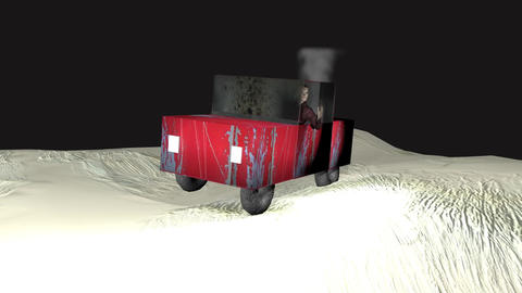 Zombie drives car Animation