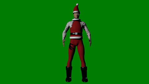 Funny christmas man Animation
