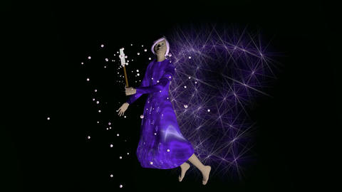 Fairy in purple CG動画素材