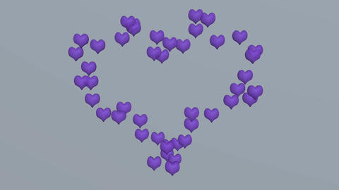 purple love heart Animation