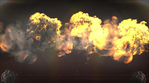 Explosion background for opening Titles 애니메이션