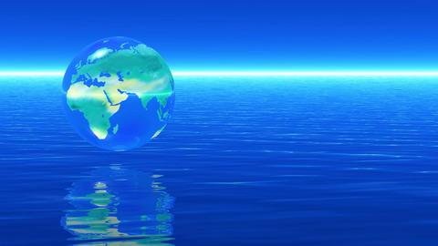 Earth blue CG動画