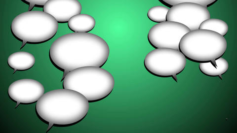 White Speech bubbles. Internet messaging concept Animation